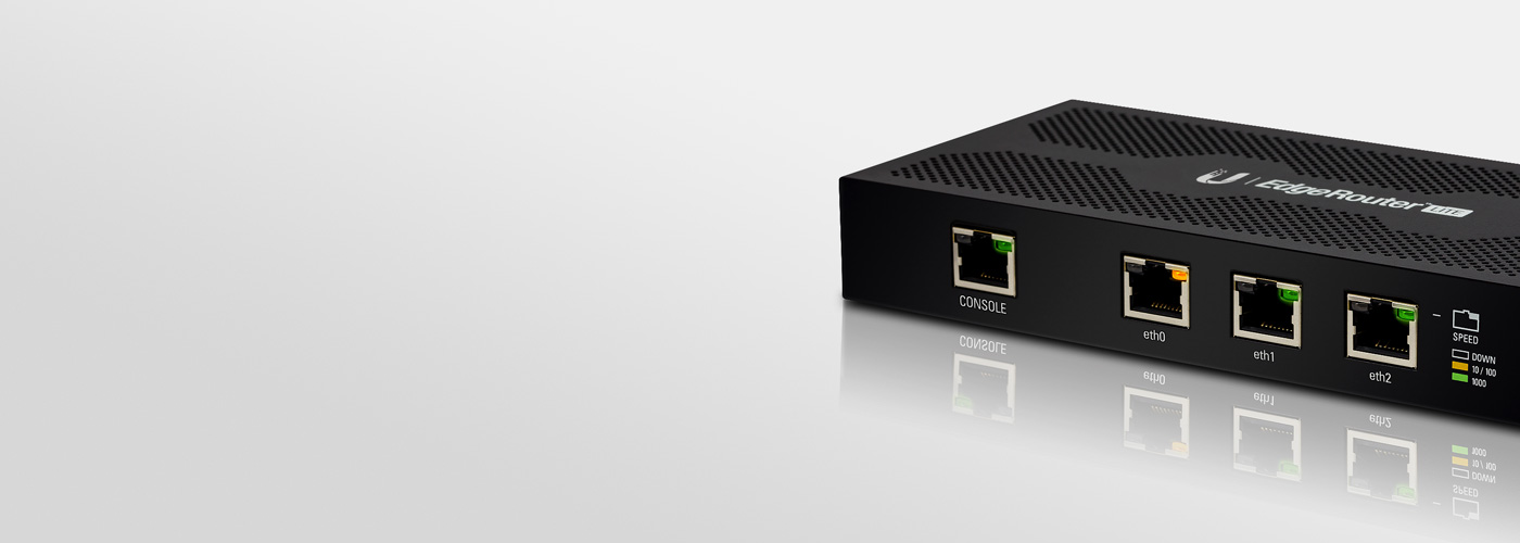 Ubiquiti EdgeRouter Lite configured with Telfort (SNI-F)