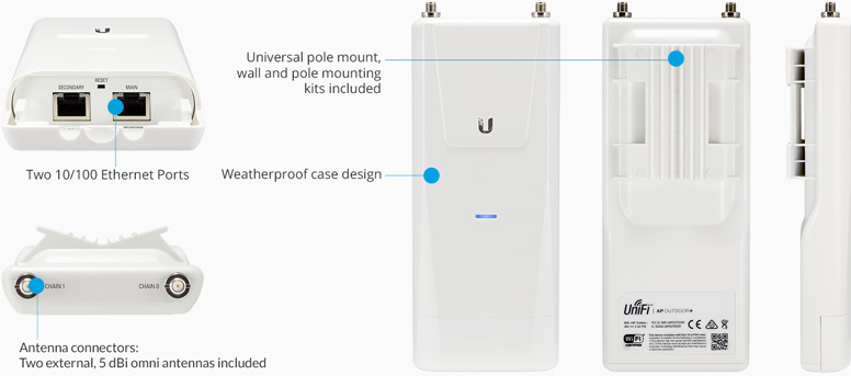 Ubiquiti Uap Outdoor5 Unifi Ap Outdoor 5ghz Uap Outdoor5